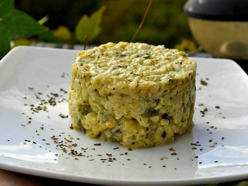 risotto champignons et courgettes au thermomix cookomix. Black Bedroom Furniture Sets. Home Design Ideas