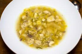 Bouillon Chinois, poulet et poireaux