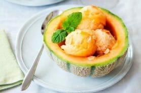 Soupière de melon glacé