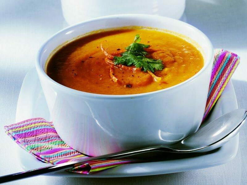 Velouté de carottes au curry au Thermomix