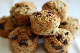 Muffins au son d'avoine et aux pépites de chocolat