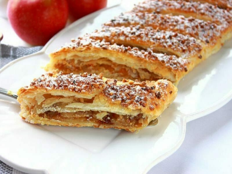 Apfelstrudel – Strudel aux pommes au Thermomix
