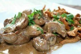 Rognons de porc sauce madère