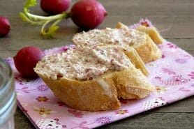 Rillettes de radis roses au cheese cream