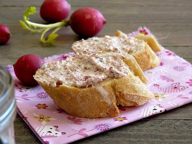 Rillettes de radis roses au cheese cream au Thermomix