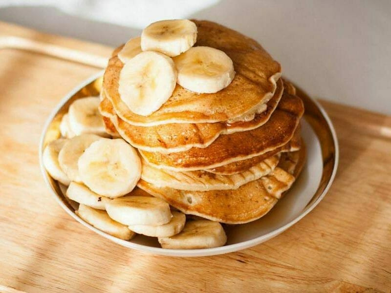 pancakes la banane au thermomix cookomix. Black Bedroom Furniture Sets. Home Design Ideas