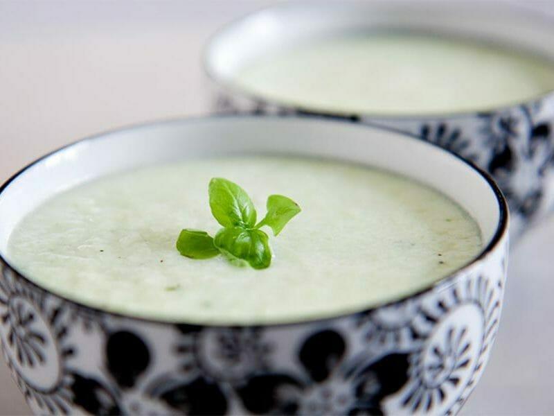 Soupe froide concombre et menthe au Thermomix