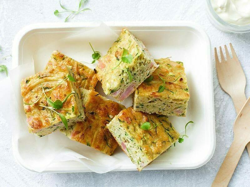 Zucchini slice – Pain de courgettes australien au Thermomix