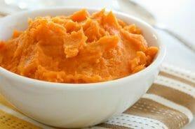 Purée carottes et patates douces