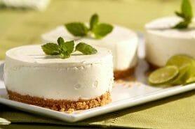 Mini cheesecakes au citron vert