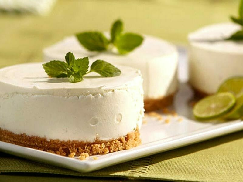 Mini cheesecakes au citron vert au Thermomix