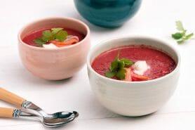 Soupe de betterave au saumon