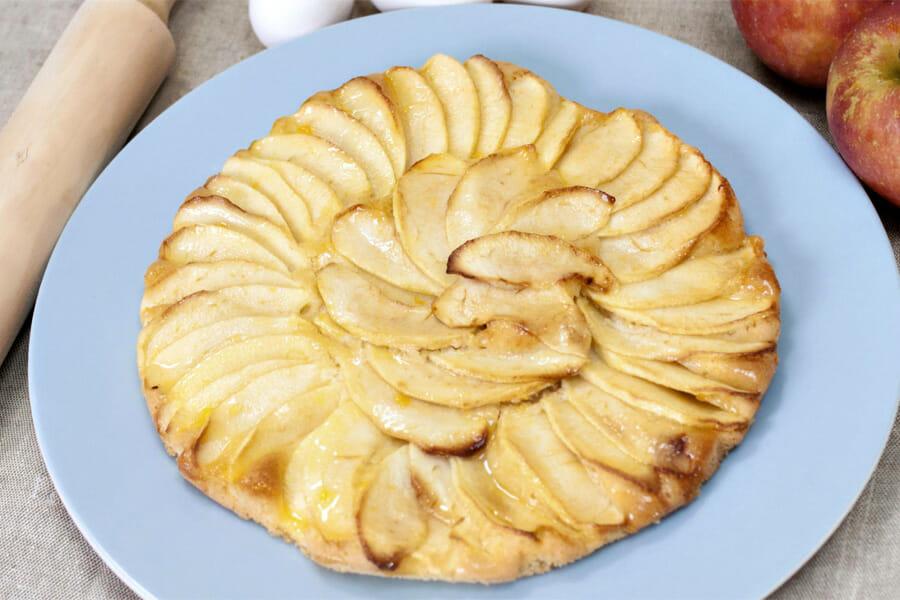 tarte aux pommes sans p 226 te au thermomix cookomix