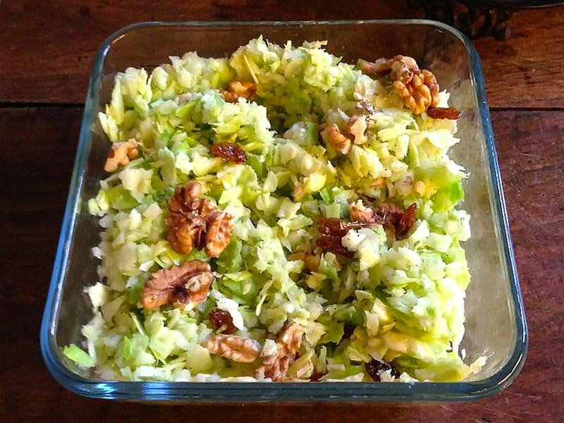 Salade pommes, chou et noix au Thermomix