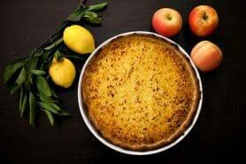 Tarte pommes râpées citron