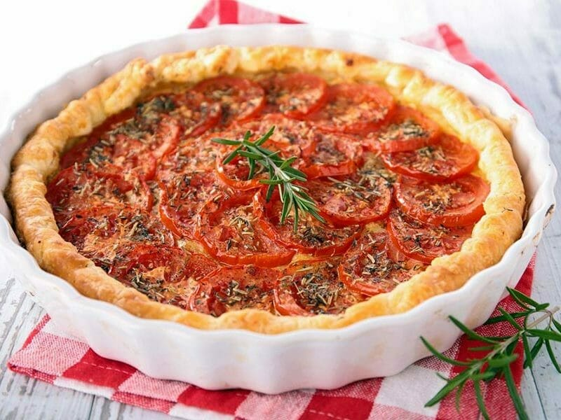 tarte la tomate au thermomix cookomix. Black Bedroom Furniture Sets. Home Design Ideas