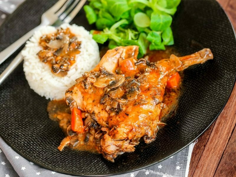 Lapin sauce chasseur au Thermomix