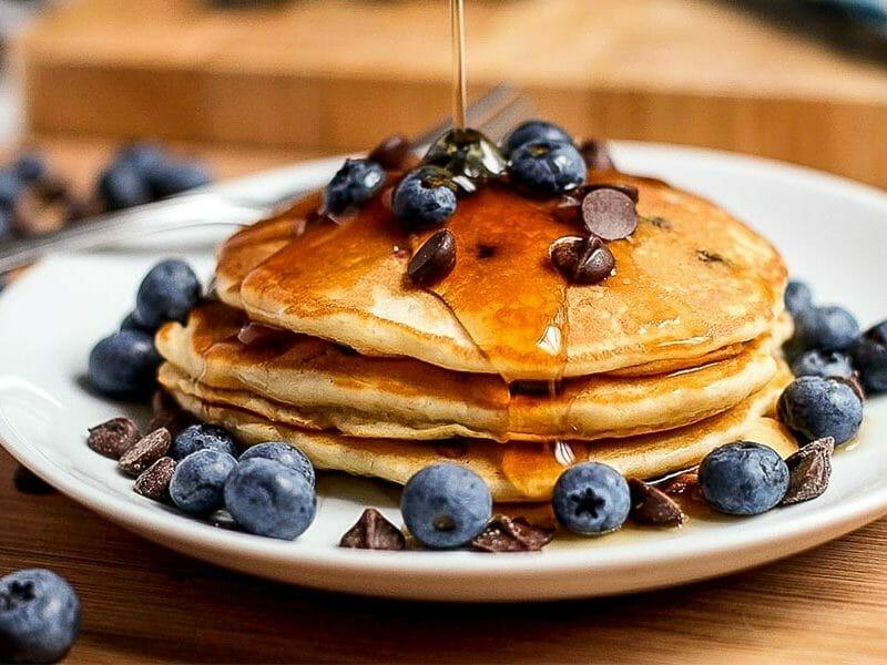 Pancake myrtilles et pépites de chocolat au Thermomix