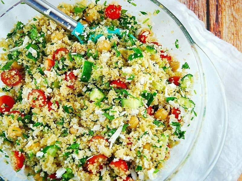 Salade de couscous façon taboulé au Thermomix