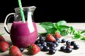 Smoothie fraise myrtille