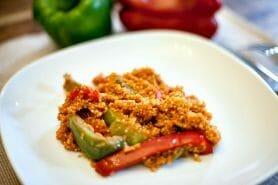 Quinoa sauce basquaise