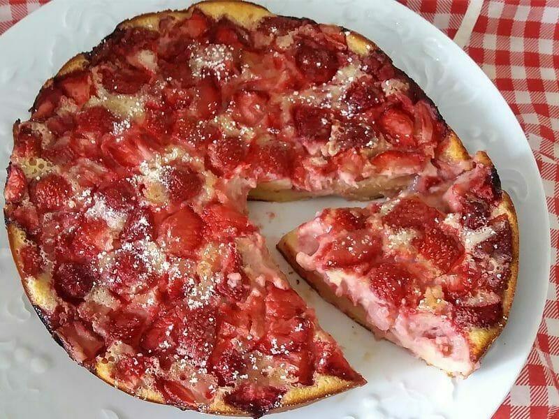 Clafoutis aux fraises au Thermomix