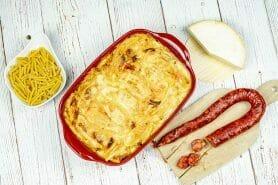 Gratin de macaroni reblochon et chorizo