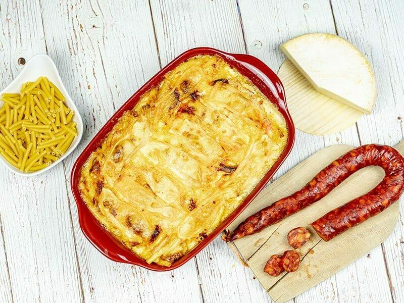 Gratin de macaroni reblochon et chorizo au Thermomix