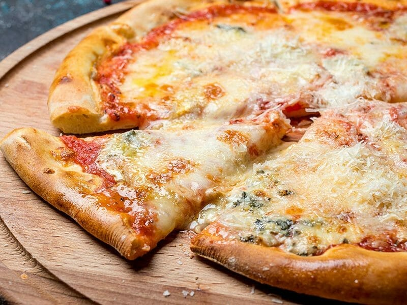 Pizza 4 fromages au Thermomix