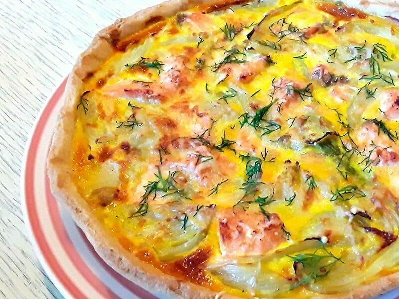 Tarte au fenouil et saumon au Thermomix