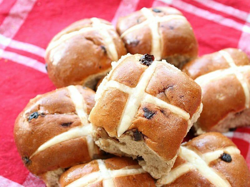 Hot cross buns – petits pains anglais de Pâques au Thermomix