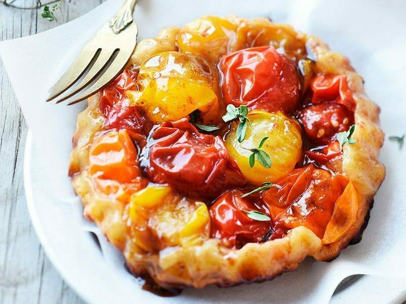 Tatin de tomates cerises à la tapenade au Thermomix