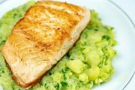 Ecrasé de pommes de terre et saumon
