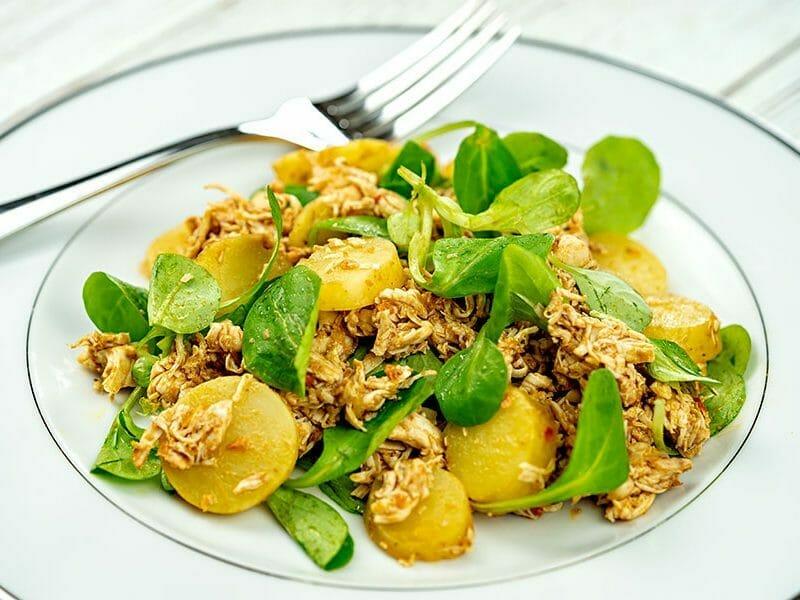 Salade de poulet au pesto rosso au Thermomix