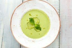 Soupe froide courgette et concombre