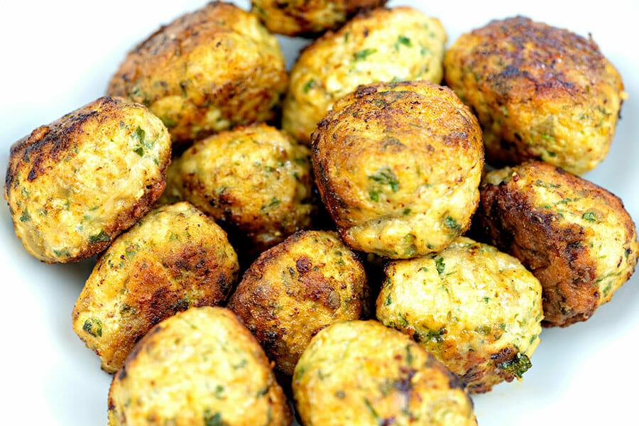 Boulettes de poulet aux olives