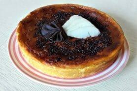 Gâteau à la faisselle, poires et chocolat