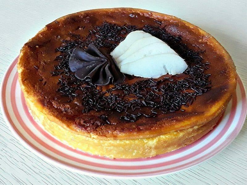 Gâteau à la faisselle, poires et chocolat au Thermomix