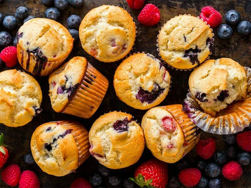 Mini muffins aux fruits rouges au Thermomix