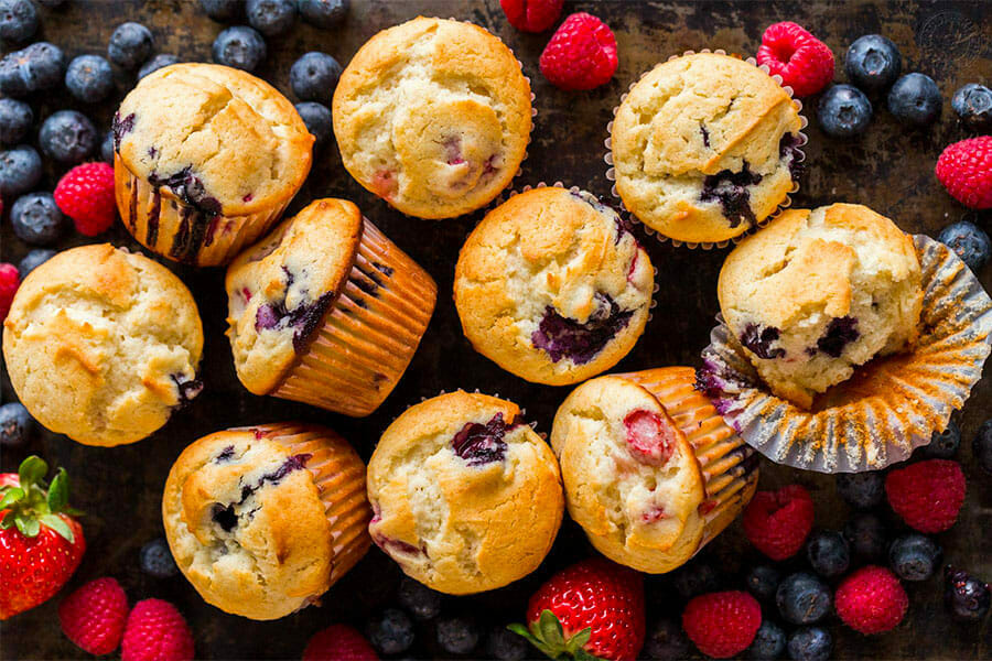 Mini muffins aux fruits rouges au Thermomix - Cookomix