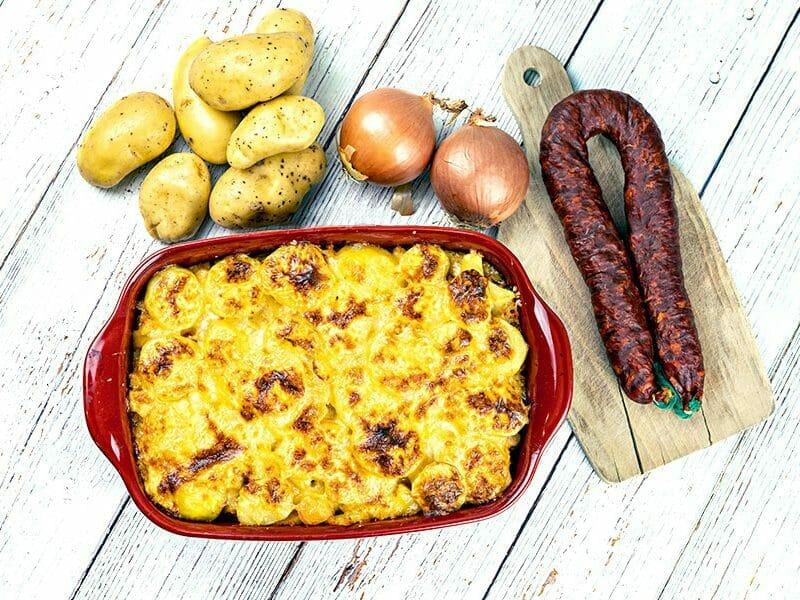 Gratin de pommes de terre au chorizo au Thermomix