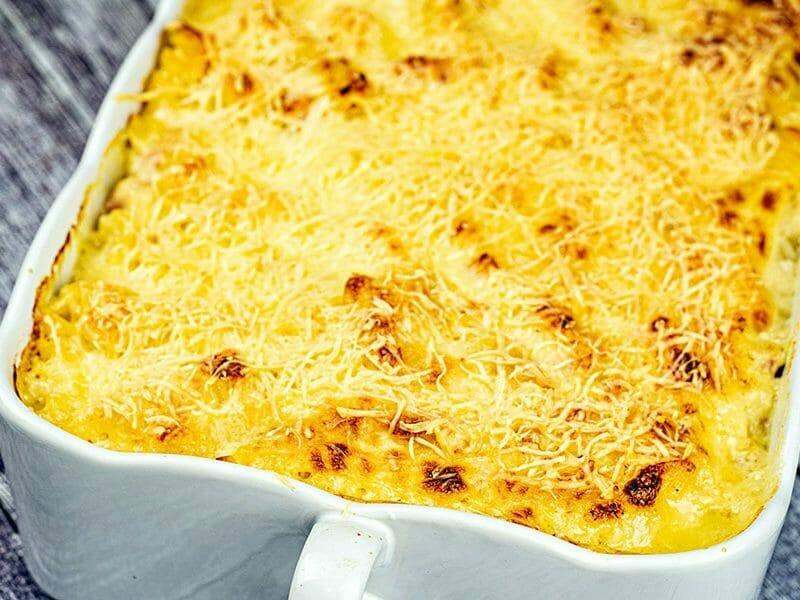 Gratin de pâtes au fromage blanc au Thermomix