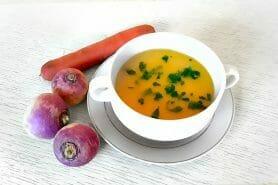 Velouté carottes et navets au curry