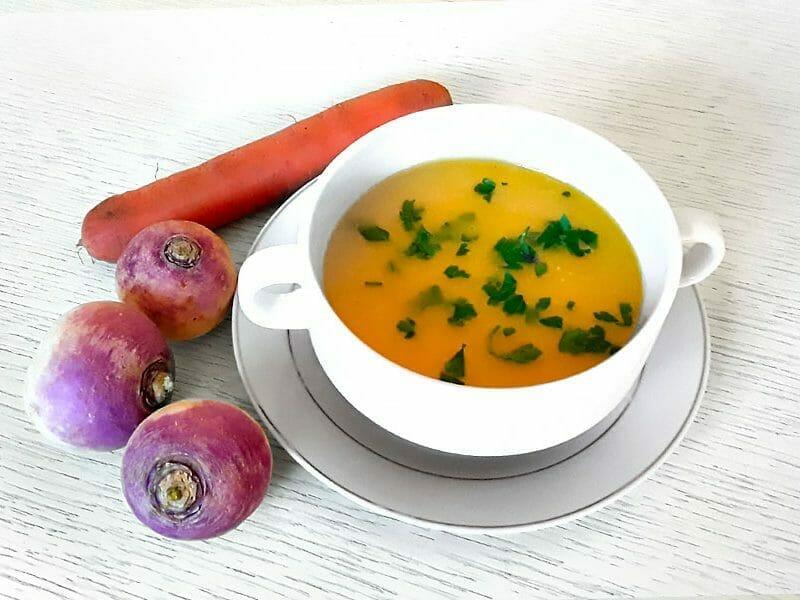Velouté carottes et navets au curry au Thermomix