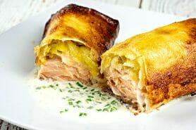 Brick de saumon et poireaux