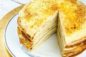 Gâteau de crêpes à la vanille – Mille crepe cake au Thermomix