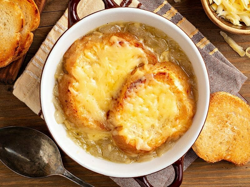 Soupe de poireaux gratinée au Thermomix