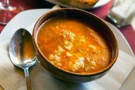 Soupe à l'ail castillane au Thermomix