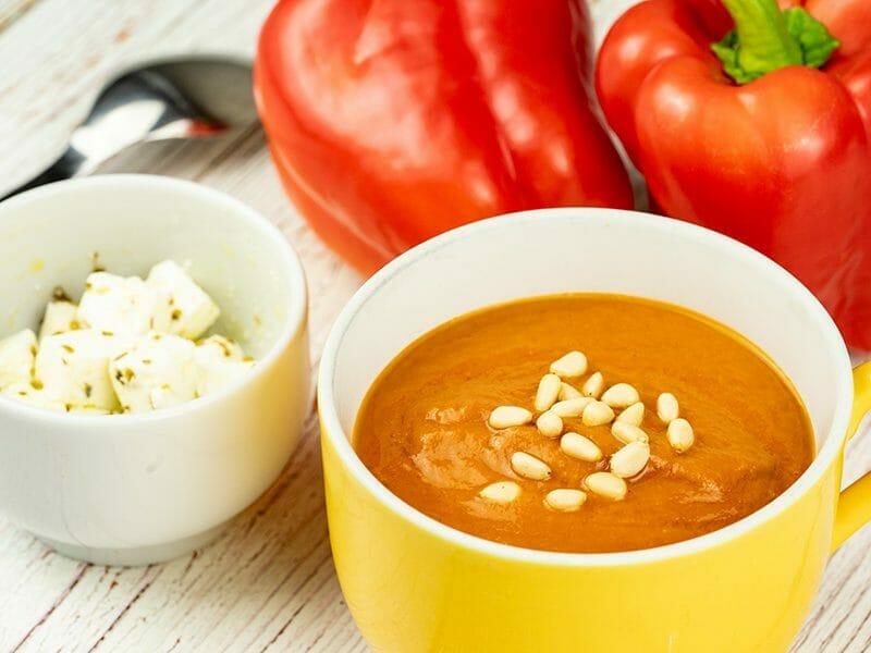 Soupe froide aux poivrons rouges au Thermomix