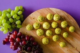 Bouchées raisin chèvre et pistache au Thermomix